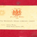Револьвер Webley «WG» M 1882, The Wilkison sword company, Limited. Oakley Works, King's Road, Chelsea, S.W.